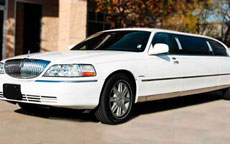 White Lincoln Stretch Limo