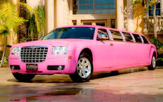 Pink Chrysler 300 Limo