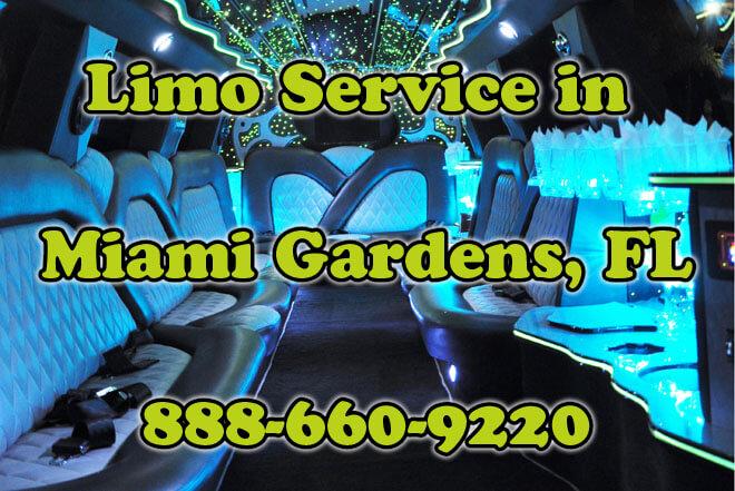 Limousine Service in Miami Gardens