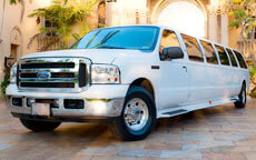 White Excursion Limo