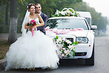 Winter Wedding Limo