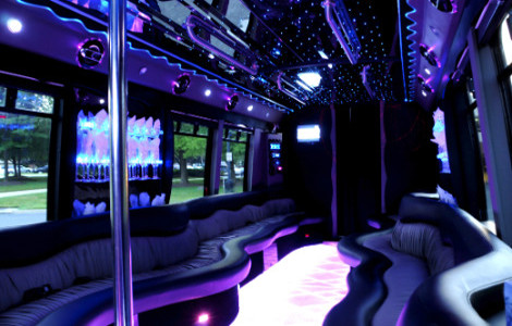 Limo Bus Rental Hayes Center