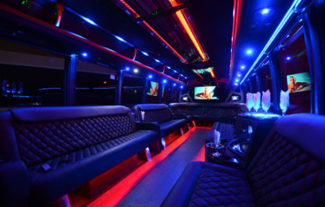 Party Bus Rental Guttenberg New Jersey
