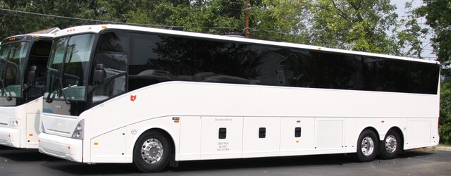 Party Bus Rental Oro Valley, AZ 49 Passenger Coach Bus White