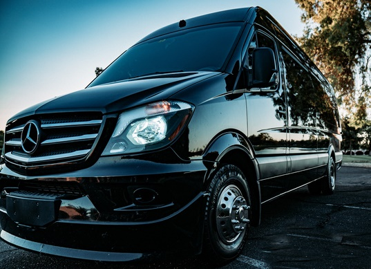 Charter Bus Chandler, AZ Sprinter Black 13 Passenger #11201