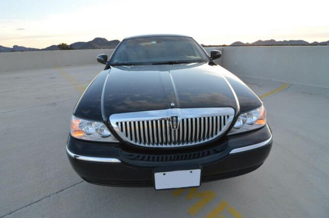Charter Bus Surprise, AZ Lincoln Town Car Black 3-Passenger