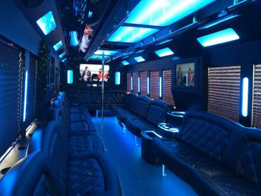 Party Bus Rental Tempe, AZ Party Bus / Limo Bus White 34 Passenger #12592