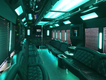 Party Bus Rental Tempe, AZ Party Bus / Limo Bus White 40 Passenger #12593
