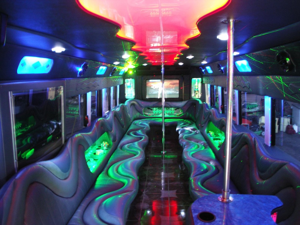 Charter Bus Tempe, AZ Party Bus / Limo Bus Black 33 Passenger #12594
