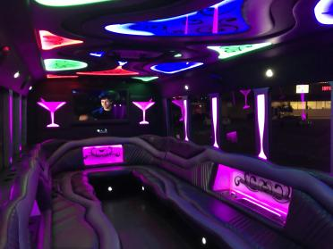 Party Bus Rental Tempe, AZ Party Bus / Limo Bus Black 24 Passenger #12595