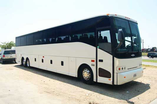 Party Bus Rental Apache Junction, AZ Van Hool White 40 Passenger #12732