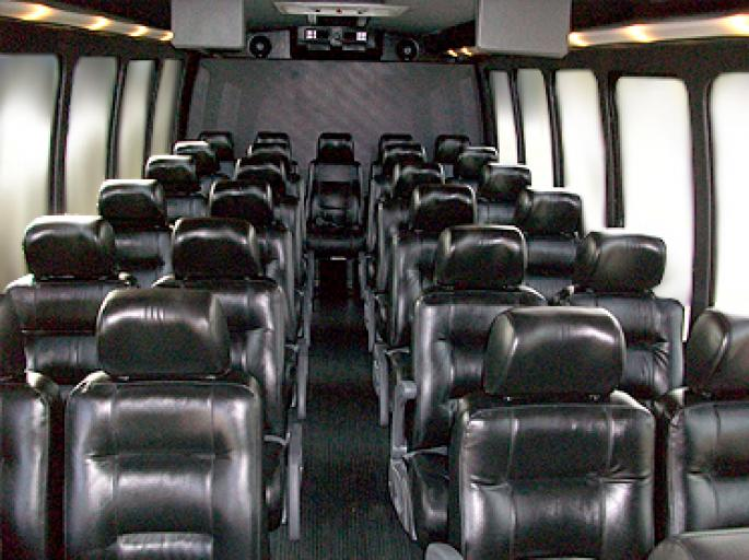 Party Bus Rental Tempe, AZ Ford 650 White 36 Passenger #13416