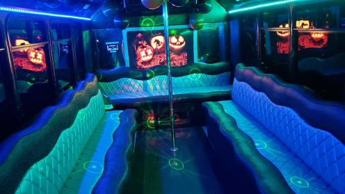 Limo Service Queen Creek, AZ Party Bus / Limo Bus Black 14 Passenger #14175