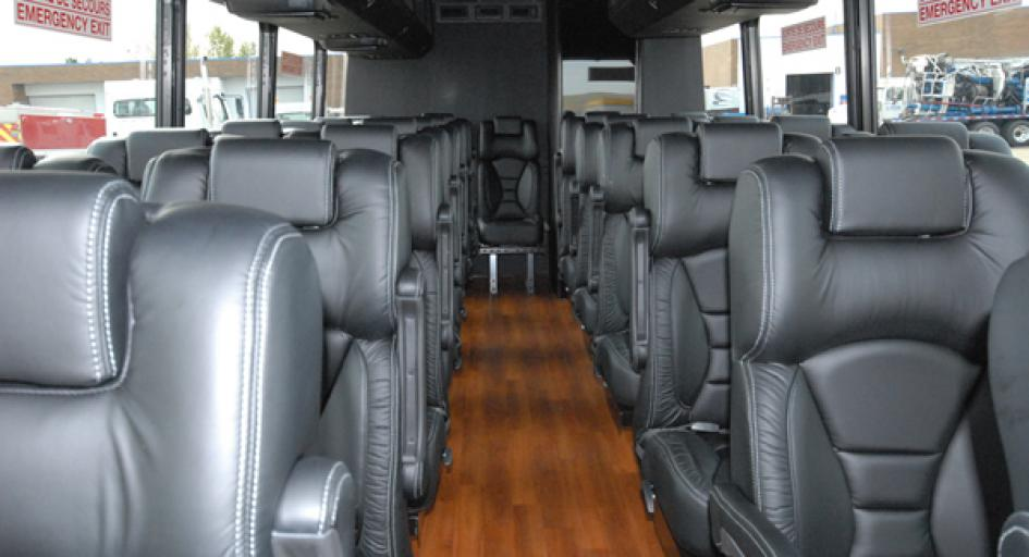 Party Bus Rental Tucson, AZ Freightliner Shuttle White 37 Passenger #14413