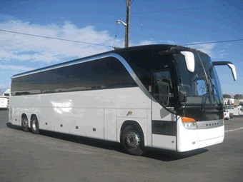 Party Bus Rental Tucson, AZ Setra White 56 Passenger #14414