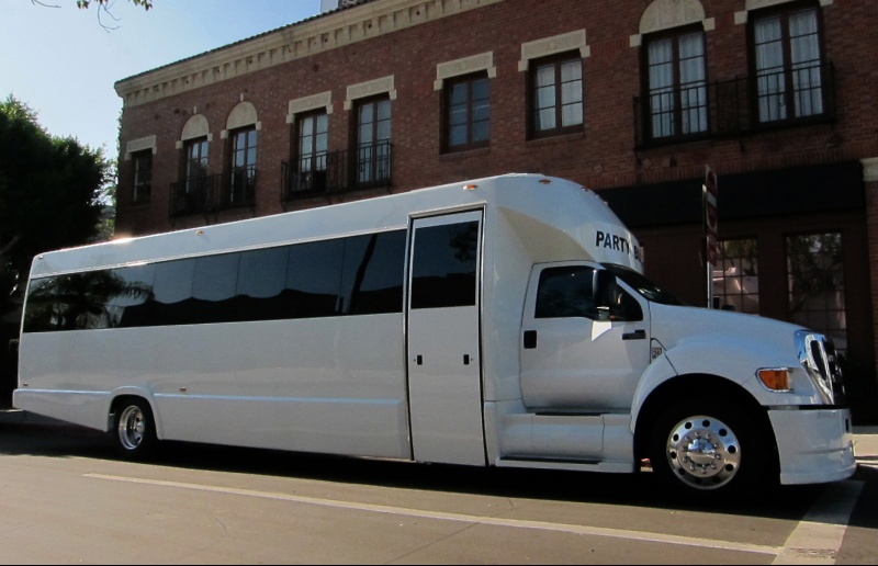 Limo Service Gilbert, AZ Party Bus / Limo Bus White 40 Passenger #14588