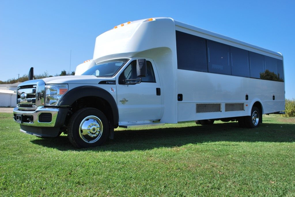 Party Bus Rental Glendale, AZ Party Bus / Limo Bus White 25 Passenger #14589
