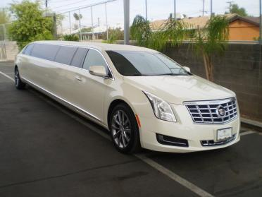 Party Bus Rental Tempe, AZ Cadillac DTS White 12 Passenger #14664