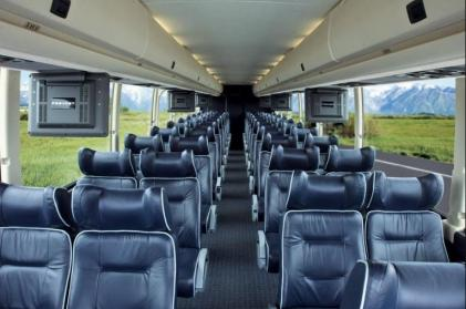 Party Bus Rental Glendale, AZ Prevost Black 56 Passenger #14839