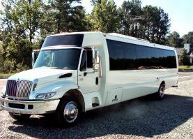 Party Bus Rental Glendale, AZ International White 31 Passenger #14841