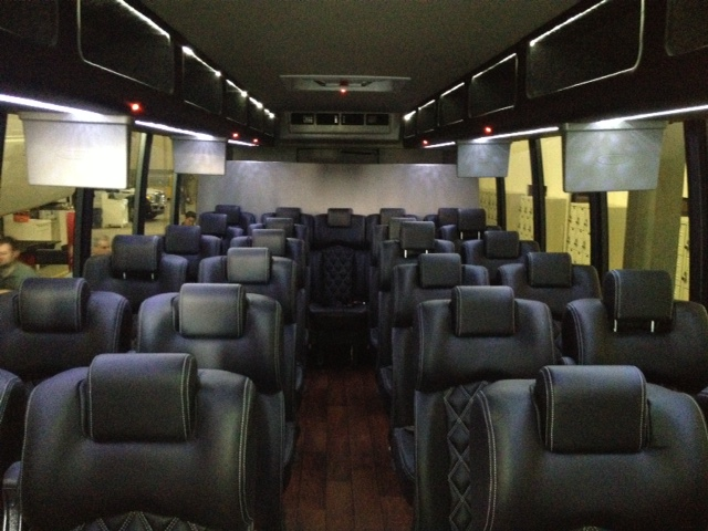 Party Bus Rental Glendale, AZ International White 38 Passenger #14843