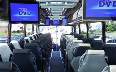Party Bus Rental Tucson, AZ Prevost Black 56 Passenger #14847