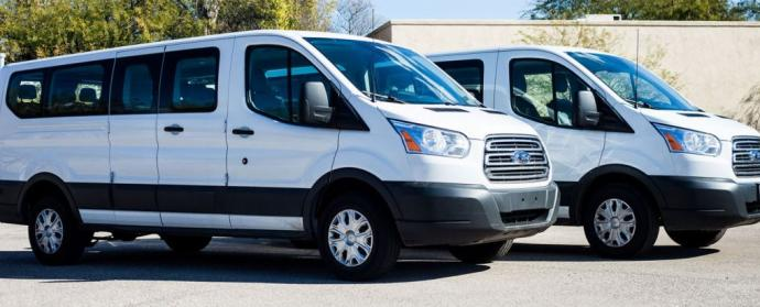 Party Bus Rental Catalina Foothills, AZ Ford Transit Van White 14 Passenger #15171