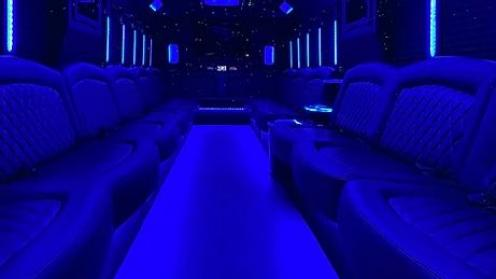 Limo Service Casas Adobes, AZ Party Bus / Limo Bus White 35 Passenger #15236