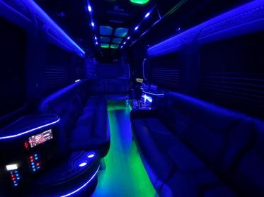 Party Bus Rental Catalina Foothills, AZ Sprinter Black 14 Passenger #15238
