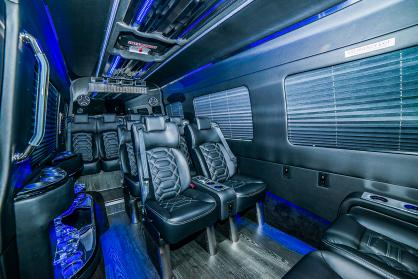 Charter Bus Phoenix, AZ Executive Sprinter Black 14 Passenger #15306