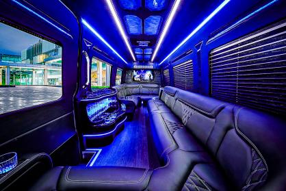 Party Bus Rental Gilbert, AZ Limo Bus Black 14 Passenger #15307