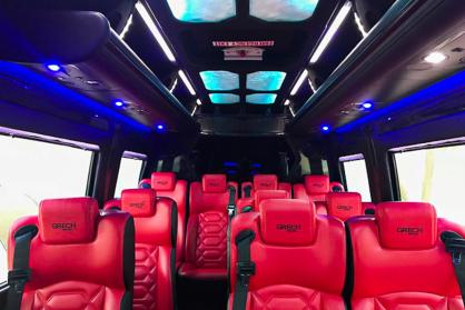 Limo Service Chandler, AZ Executive Sprinter Black & Red 13 Passenger #15308