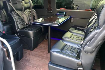 Party Bus Rental Maricopa, AZ Executive Sprinter Black 13 Passenger #15309