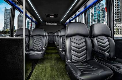 Party Bus Rental Gilbert, AZ Ford 550 Black 27 Passenger #15310
