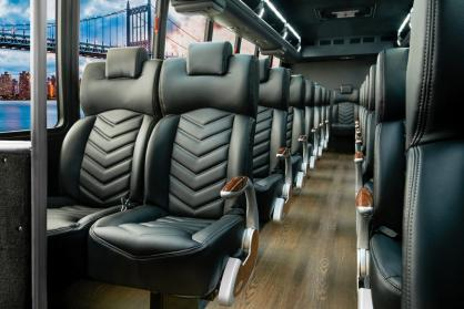 Party Bus Rental Gilbert, AZ Freightliner Shuttle Black 40 Passenger #15311