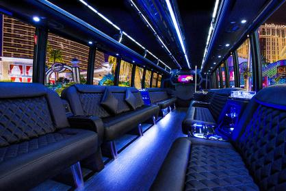 Party Bus Rental Gilbert, AZ Limo Bus Black 38 Passenger #15314