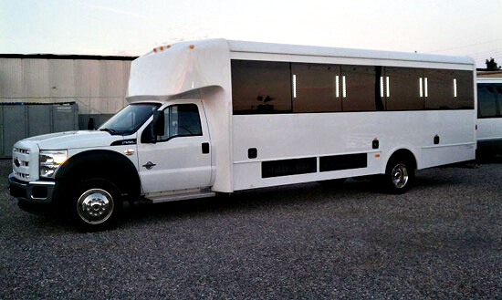 Party Bus Rental Glendale, AZ White Party Bus 25  Passengers
