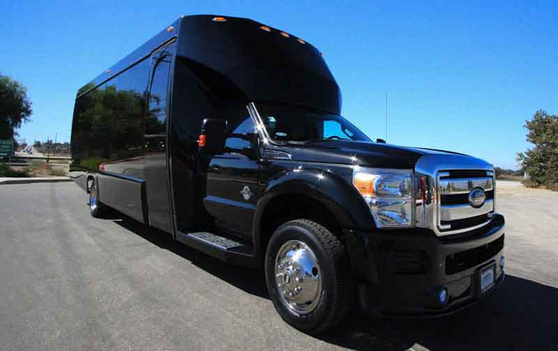 Charter Bus Prescott, AZ 20 Passenger Party Bus Black Rental