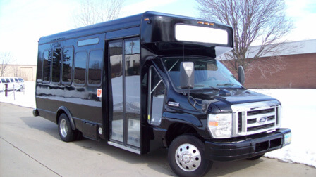 Black 20 Passenger Party Bus SPECIAL RENT 6 HOURS GET 1 FREE Limo Service Lincoln NE Rental