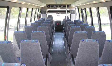 Party Bus Rental Buckeye, AZ 28 Passenger Mini Bus  White