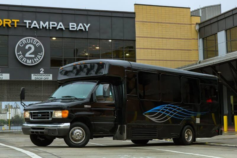 Party bus black 20 passenger 5300 special rent 6 hours get 1 free limo service tampa fl bus rental tampa fl