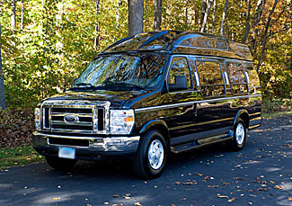 Party Bus Rental Queen Creek, AZ Ford Van Black 13 Passenger #6506