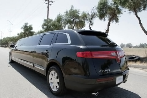 Charter Bus Tucson, AZ Lincoln MKT Stretch Black 8 Passenger #7882