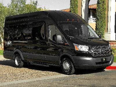 Party Bus Rental Tucson, AZ Ford Van Black 14 Passenger #8118