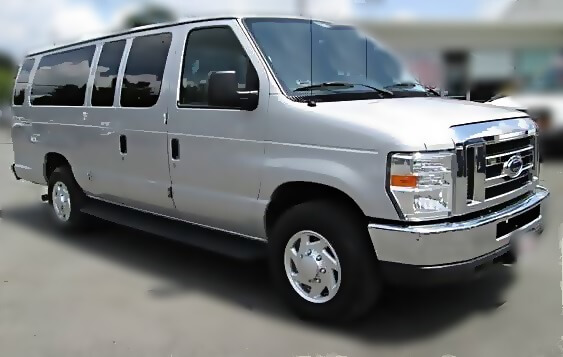Limo Service Chandler, AZ Ford Van Silver 10 Passenger #8649