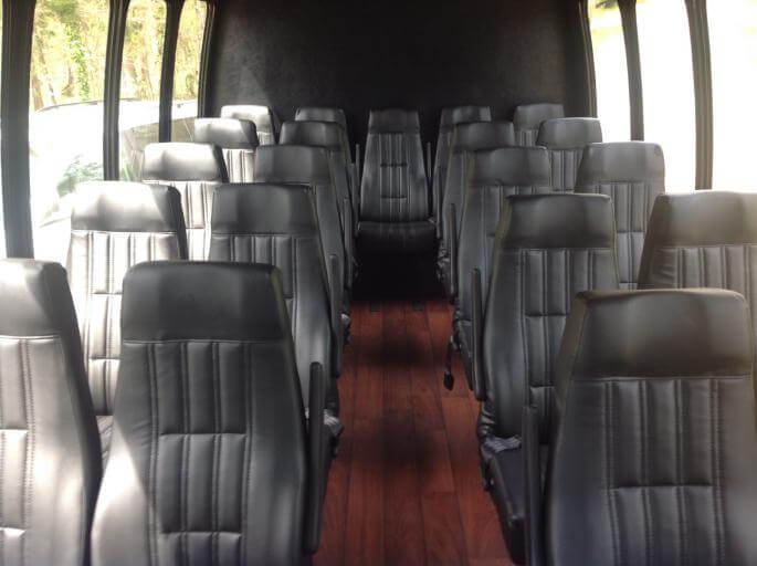 Party Bus Rental Glendale, AZ Ford 550 White 28 Passenger #9341