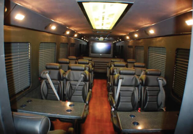 Party Bus Rental Sun City, AZ Ford 550 White 26 Passenger #9342