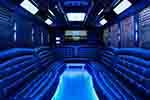 20 Passenger Party bus rental interior