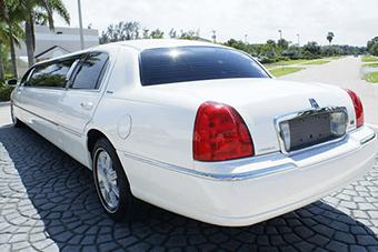 white lincoln limo interior